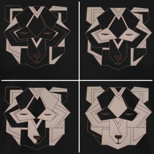 4 art deco bears - Men's Premium T-Shirt