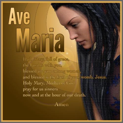 Hail Mary - Ave Maria - The prayer in English - Men's Premium T-Shirt