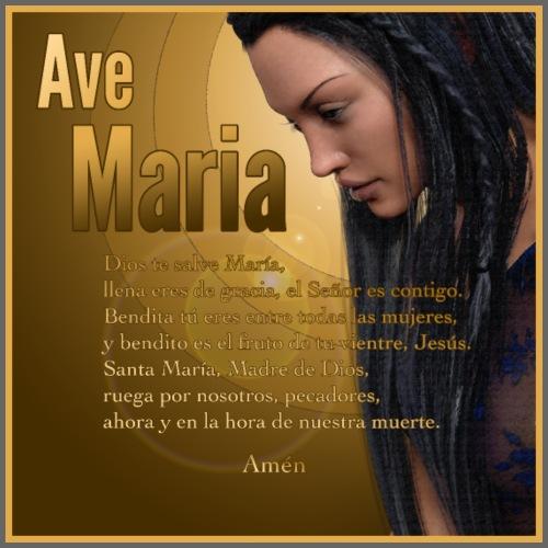 Ave María - La oración en español - Men's Premium T-Shirt