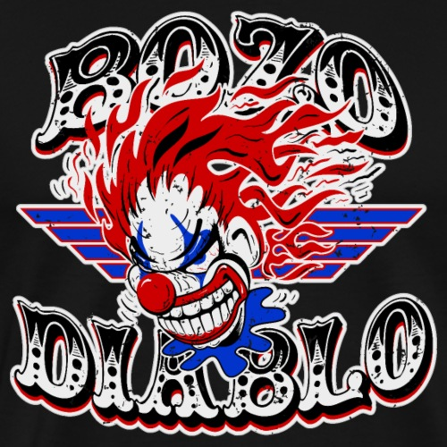 Bozo Diablo Crazy Clown Illustration - Men's Premium T-Shirt
