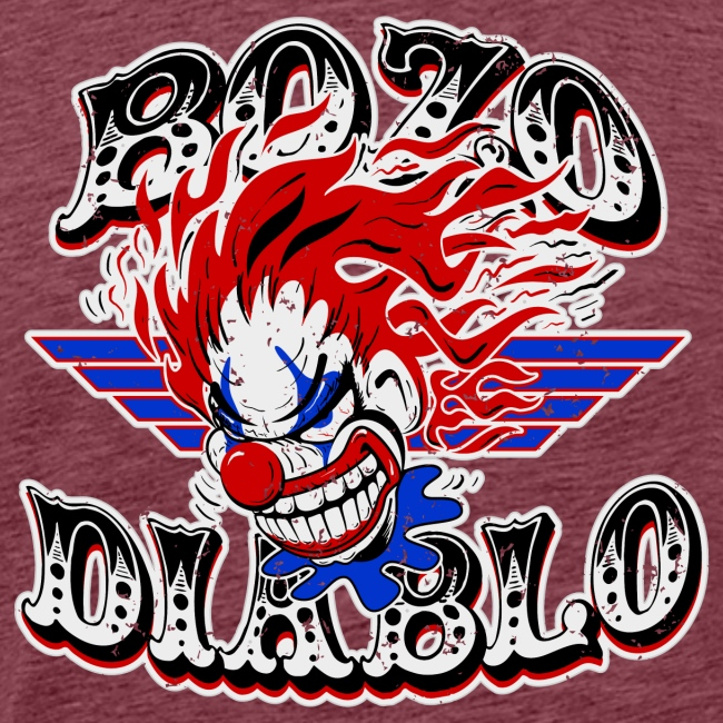 Bozo Diablo Crazy Clown Illustration