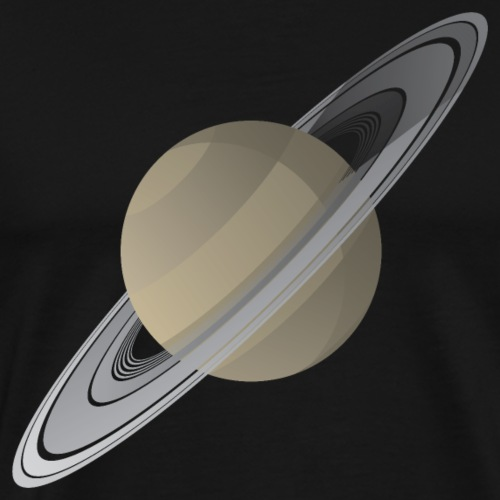 Saturn Floating In Space Vector Illustration - Men's Premium T-Shirt