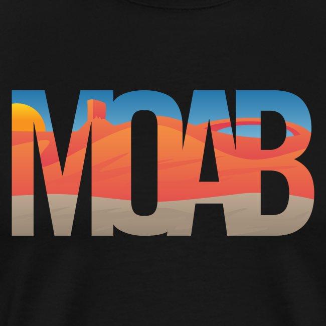Moab Utah Scenic Typography