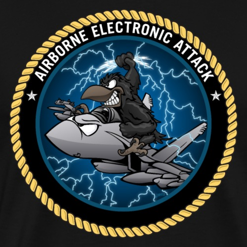 Airborne Electronic Attack EA-18 Growler Cartoon - Men's Premium T-Shirt