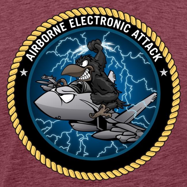 Airborne Electronic Attack EA-18 Growler Cartoon