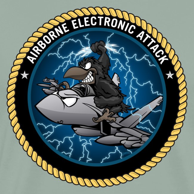 Airborne Electronic Attack EA-18 Growler Cartoon