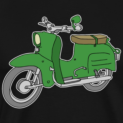 Schwalbe, scooter from GDR (green) - Men's Premium T-Shirt