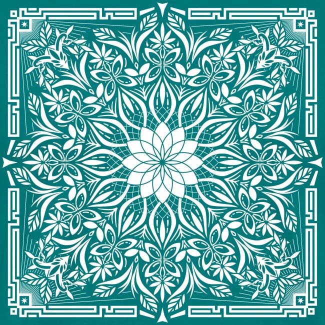 Psychedelic Mandala Geometric Illustration