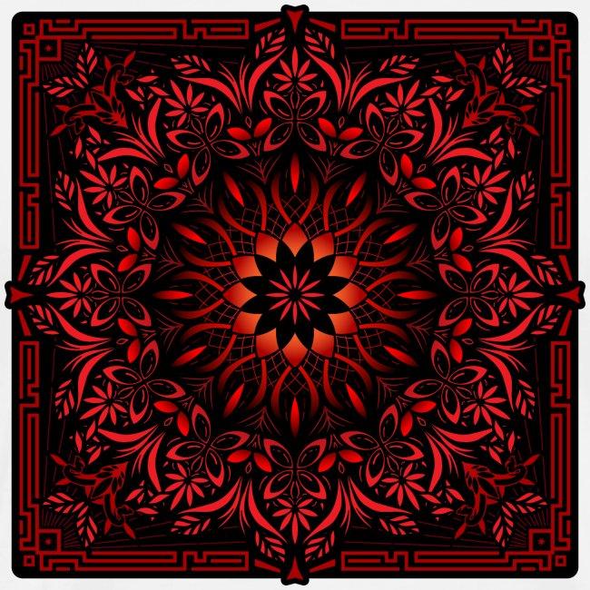 Psychedelic Mandala Geometric Color Illustration