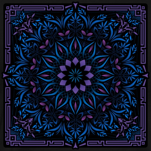 Psychedelic Mandala Geometric Color Illustration - Men's Premium T-Shirt