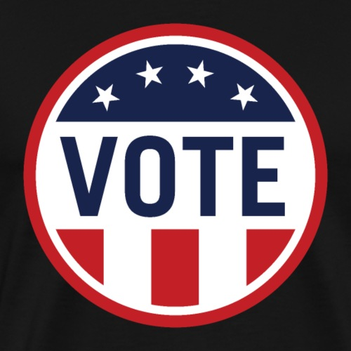 Vote Red White and Blue Stars and Stripes - Men's Premium T-Shirt