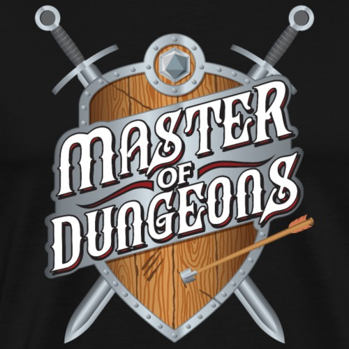 master of dungeons shield and swords fantasy gift - Men's Premium T-Shirt