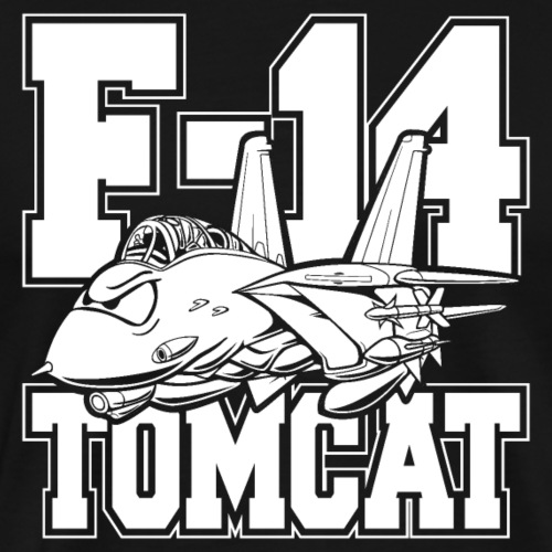 F-14 Tomcat Classic Fighter Jet Aircraft Cartoon - Men's Premium T-Shirt