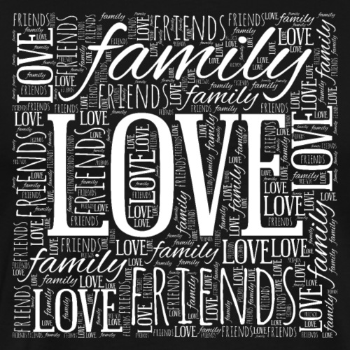 Love Family Friends - Men's Premium T-Shirt
