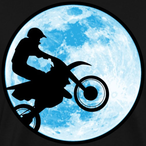 Motocross Motorcycle Blue Moon - Men's Premium T-Shirt