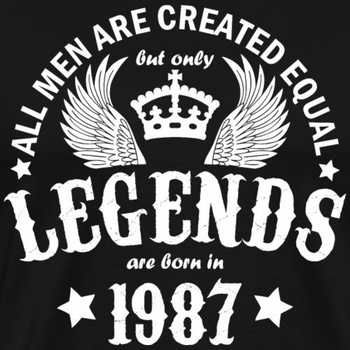 Legends are Born in 1987 - Men's Premium T-Shirt