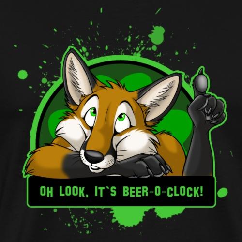 Beer-o-Clock Fox - Men's Premium T-Shirt