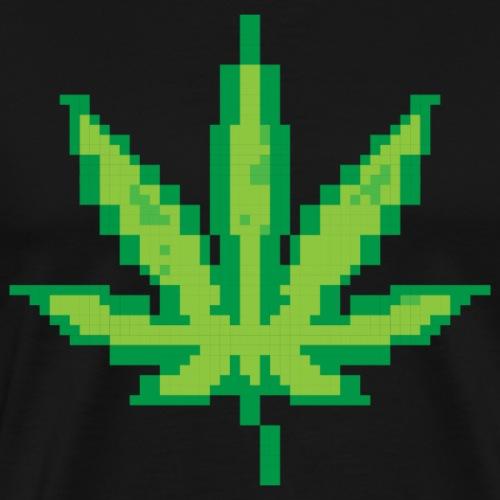 Pixel Cannabis Leaf - Men's Premium T-Shirt