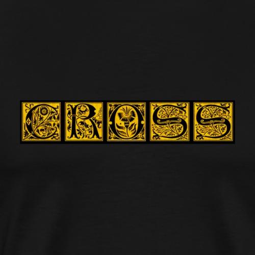 Cr0ss Gold-Out logo - Men's Premium T-Shirt