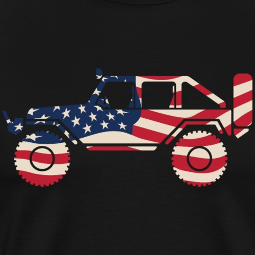American Patriotic Off Road 4x4 - Men's Premium T-Shirt
