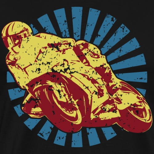 Sportbike Racing Motorcycle - Men's Premium T-Shirt