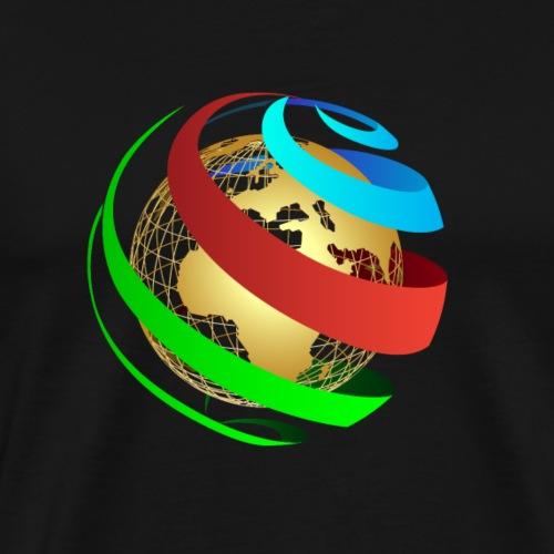 Globe vecto - Men's Premium T-Shirt