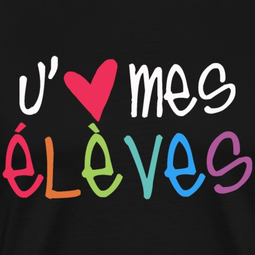 I Love My Students - French Teacher T-Shirt - Men's Premium T-Shirt