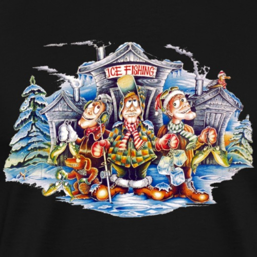 Ice Fishing - Men's Premium T-Shirt