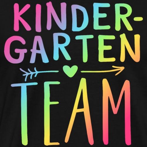 Kindergarten Team Neon Rainbow Teacher T-Shirts - Men's Premium T-Shirt