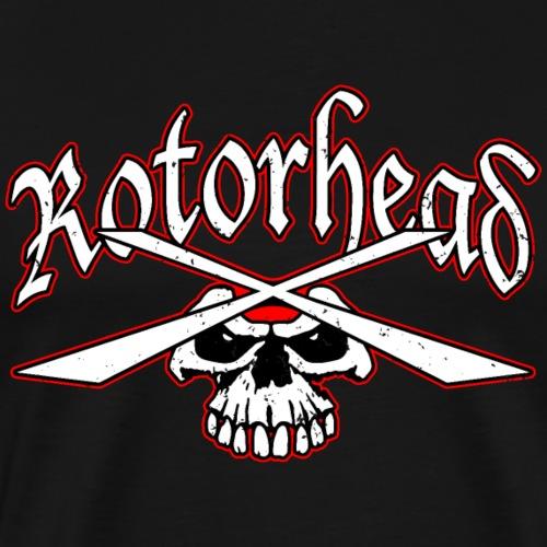 Rotorhead Helicopter Skull Illustration