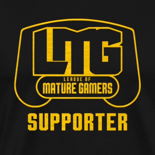 LMG Block Logo Supporter Tshirt - Men's Premium T-Shirt