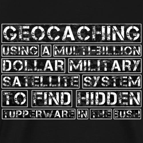 Geocaching Camo Satellite - Men's Premium T-Shirt