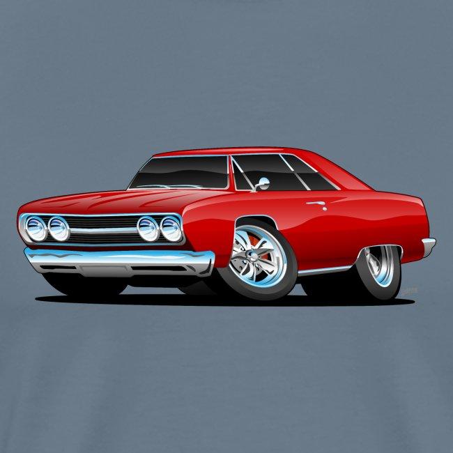 Classic Muscle Car Cartoon