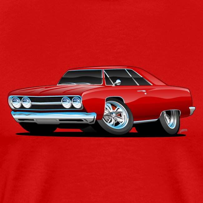 Classic Muscle Car Cartoon
