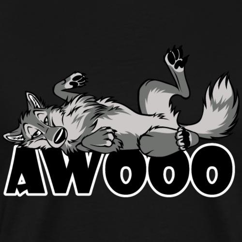 Lazy Awooo Wolf - Men's Premium T-Shirt