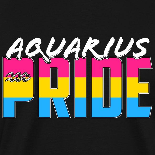 Aquarius Pansexual Pride Flag Zodiac Sign