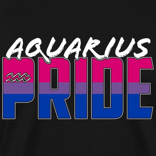Aquarius Bisexual Pride Flag Zodiac Sign