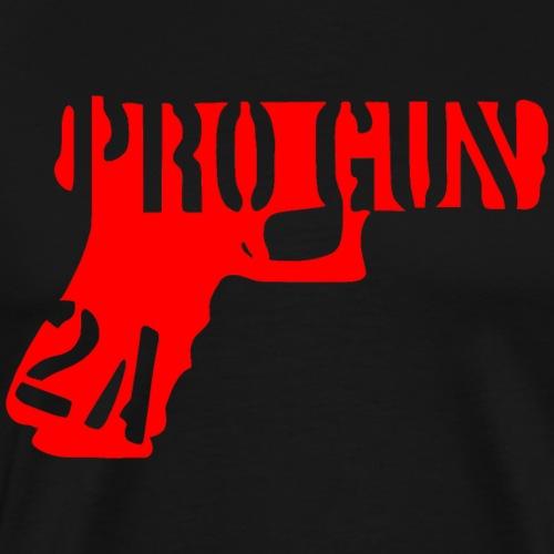 Pro Gun #USAPatriotGraphics ©WhiteTigerLLC.Com - Men's Premium T-Shirt