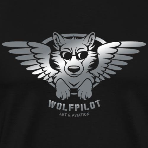 Wolfpilot Logo Silver - Men's Premium T-Shirt