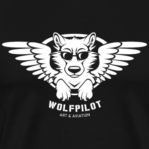 Wolfpilot Logo White - Men's Premium T-Shirt