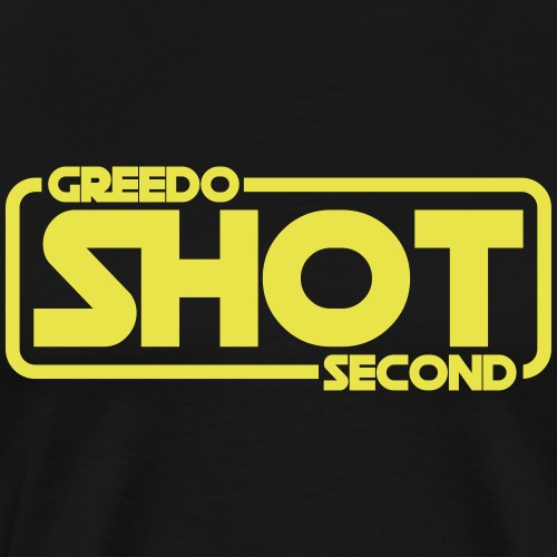 Greedo Shot Second - Men's Premium T-Shirt