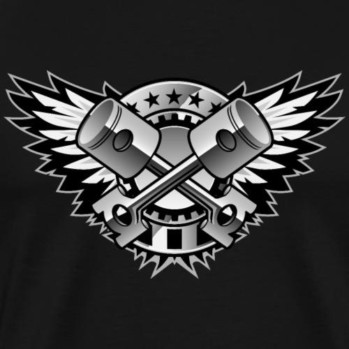 Crossed Pistons and Wings Logo - Men's Premium T-Shirt