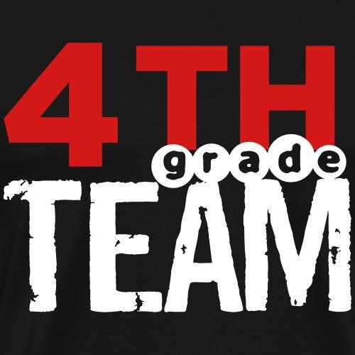 Bold 4th Grade Team Teacher T-Shirts - Men's Premium T-Shirt