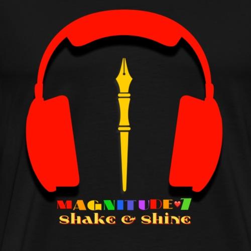Magnitude 7 Shake And Shine Brand Logo - Men's Premium T-Shirt