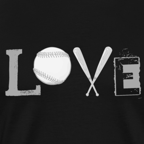 Love - Baseball Style white - Men's Premium T-Shirt
