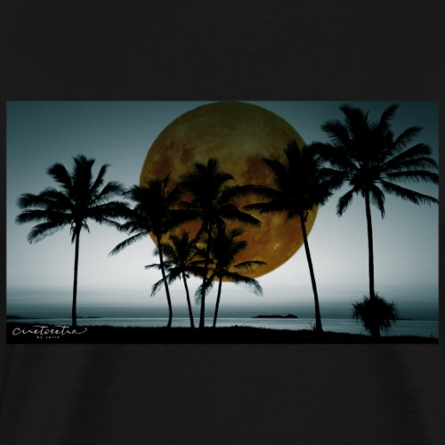 Alien Moon by the Sea - Men's Premium T-Shirt