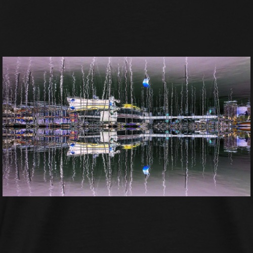 Yacht Reflections - Men's Premium T-Shirt