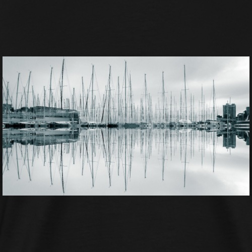 Yacht Masts Reflection - Men's Premium T-Shirt