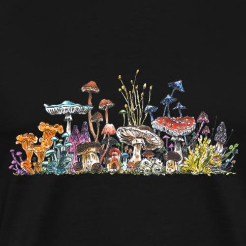 mushroom crowd / fungi - friends - Men's Premium T-Shirt