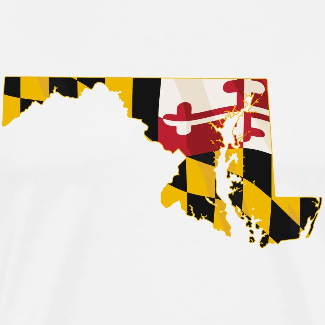 State of Maryland with Maryland flag embedded